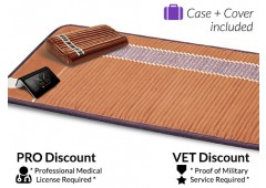 Richway Infrared Therapy Amethyst Bio-Mat Professional + Amethyst Pillow - $100 discounted for the Veteran